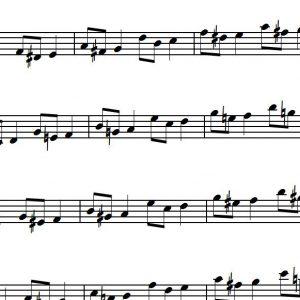 Umspielung von Durdreiklängen